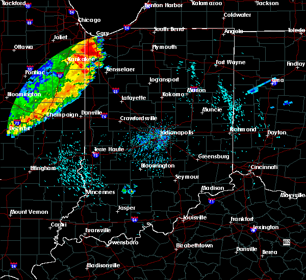 Radar Image for Severe Thunderstorms near Delphi, IN at 8/10/2020 5:30 PM EDT