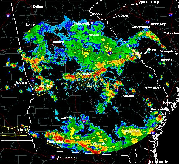 Radar Image for Severe Thunderstorms near Warner Robins, GA at 8/10/2020 5:37 PM EDT