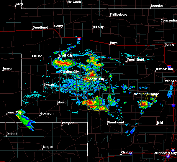 Radar Image for Severe Thunderstorms near Spearville, KS at 8/10/2020 4:37 PM CDT
