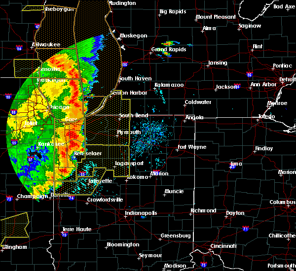 Radar Image for Severe Thunderstorms near La Crosse, IN at 8/10/2020 5:45 PM EDT