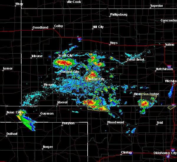 Radar Image for Severe Thunderstorms near Buffalo, OK at 8/10/2020 4:48 PM CDT