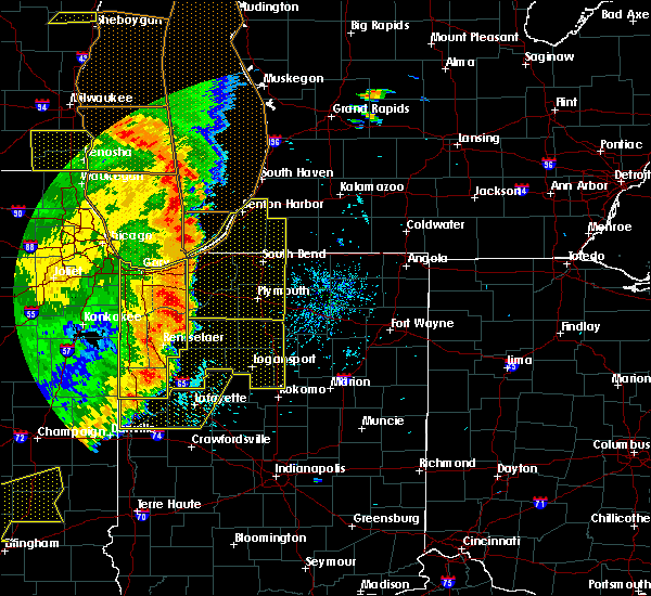 Radar Image for Severe Thunderstorms near Logansport, IN at 8/10/2020 5:49 PM EDT