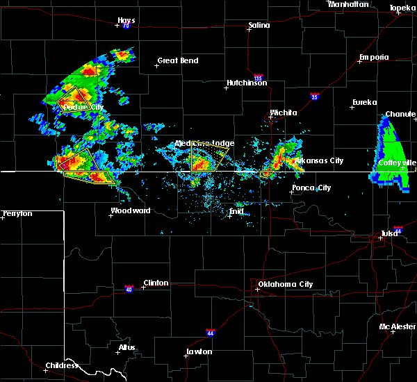 Radar Image for Severe Thunderstorms near Waldron, KS at 8/10/2020 4:50 PM CDT
