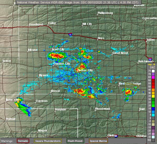 Radar Image for Severe Thunderstorms near Ashland, KS at 8/10/2020 4:56 PM CDT