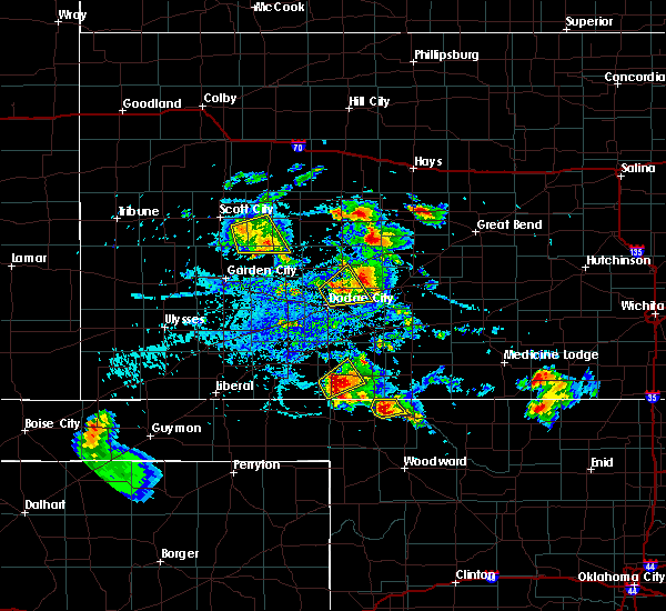 Radar Image for Severe Thunderstorms near Bison, KS at 8/10/2020 5:04 PM CDT