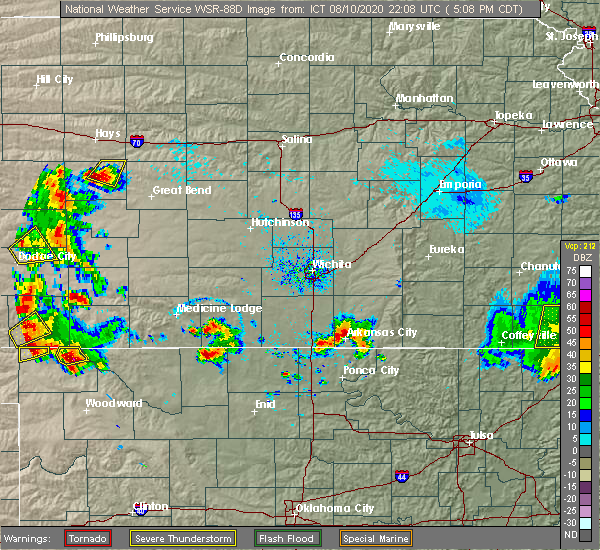 Radar Image for Severe Thunderstorms near Winfield, KS at 8/10/2020 5:15 PM CDT
