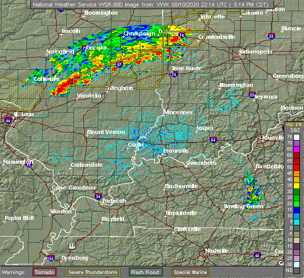 Radar Image for Severe Thunderstorms near Sigel, IL at 8/10/2020 5:19 PM CDT