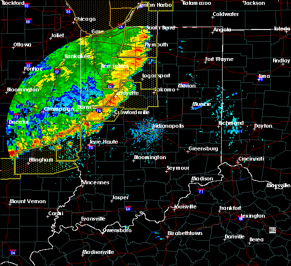 Radar Image for Severe Thunderstorms near Delphi, IN at 8/10/2020 6:38 PM EDT