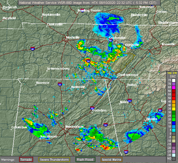 Radar Image for Severe Thunderstorms near Sale Creek, TN at 8/10/2020 6:41 PM EDT