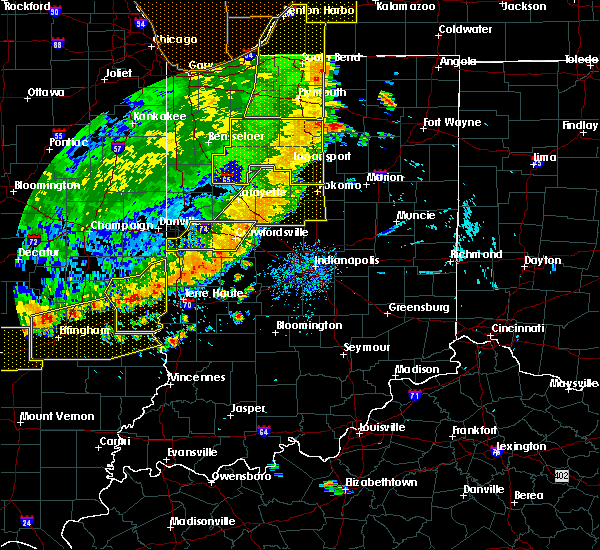 Radar Image for Severe Thunderstorms near Elwood, IN at 8/10/2020 6:45 PM EDT