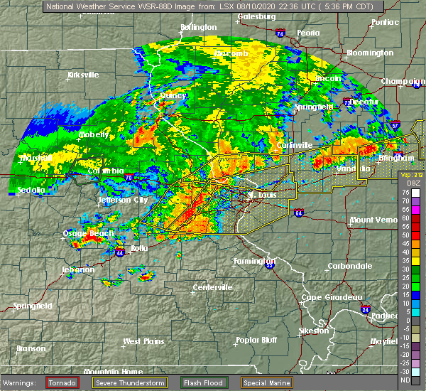 Radar Image for Severe Thunderstorms near Greenville, IL at 8/10/2020 5:46 PM CDT