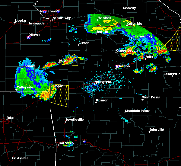 Radar Image for Severe Thunderstorms near Joplin, MO at 8/10/2020 5:48 PM CDT