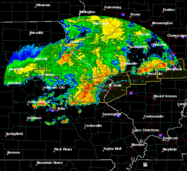 Radar Image for Severe Thunderstorms near Salem, MO at 8/10/2020 5:50 PM CDT
