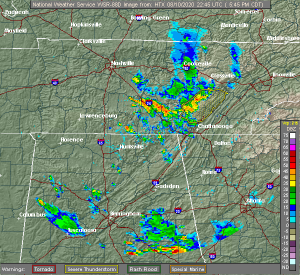 Radar Image for Severe Thunderstorms near Sale Creek, TN at 8/10/2020 6:55 PM EDT