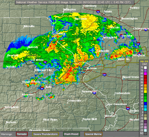 Radar Image for Severe Thunderstorms near Greenville, IL at 8/10/2020 5:56 PM CDT