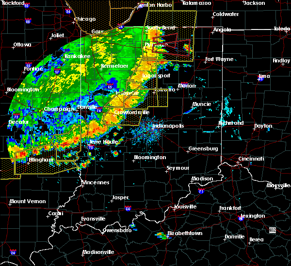 Radar Image for Severe Thunderstorms near Elwood, IN at 8/10/2020 6:57 PM EDT