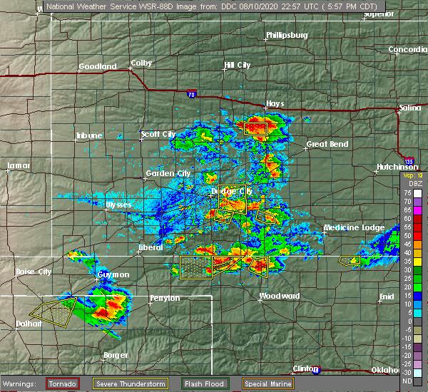 Radar Image for Severe Thunderstorms near Gate, OK at 8/10/2020 5:58 PM CDT