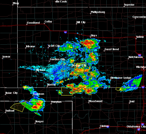 Radar Image for Severe Thunderstorms near Spearville, KS at 8/10/2020 5:59 PM CDT