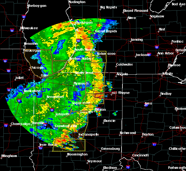 Radar Image for Severe Thunderstorms near Fort Wayne, IN at 8/10/2020 7:27 PM EDT