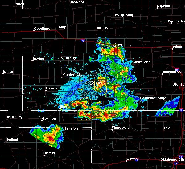 Radar Image for Severe Thunderstorms near Meade, KS at 8/10/2020 6:30 PM CDT