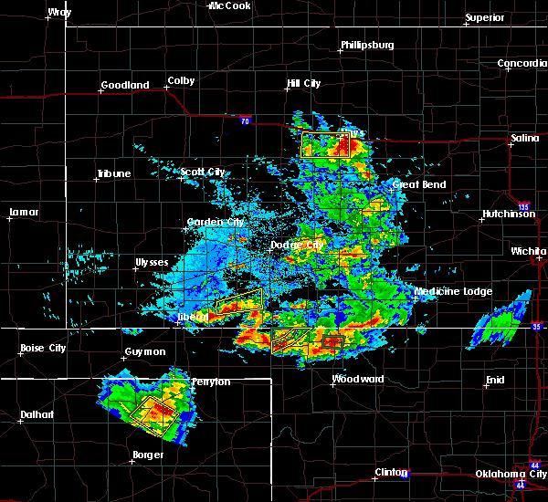 Radar Image for Severe Thunderstorms near Meade, KS at 8/10/2020 6:43 PM CDT