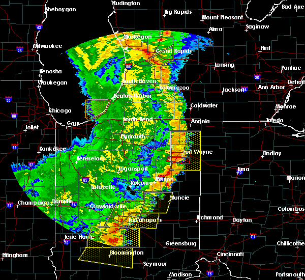 Radar Image for Severe Thunderstorms near Fort Wayne, IN at 8/10/2020 7:47 PM EDT