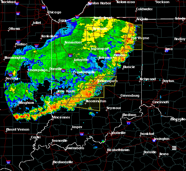 Radar Image for Severe Thunderstorms near Indianapolis, IN at 8/10/2020 7:49 PM EDT