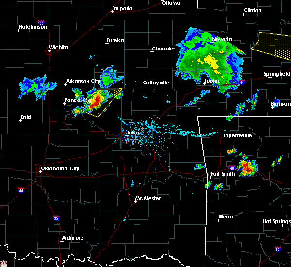 Radar Image for Severe Thunderstorms near Barnsdall, OK at 8/10/2020 7:00 PM CDT