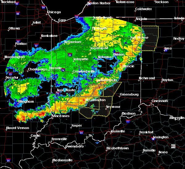 Radar Image for Severe Thunderstorms near Indianapolis, IN at 8/10/2020 8:09 PM EDT