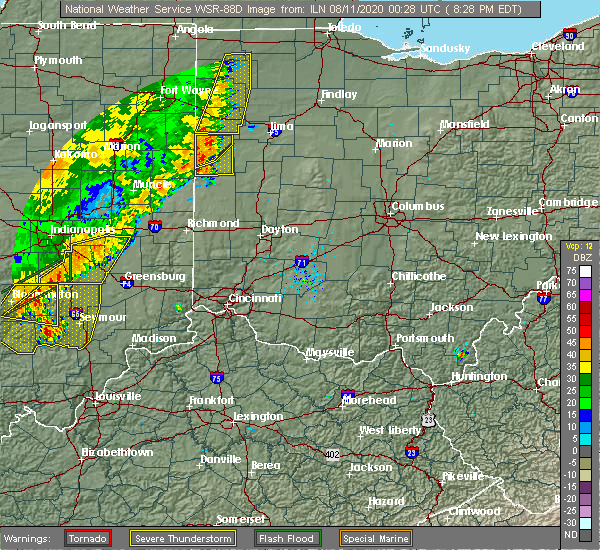 Radar Image for Severe Thunderstorms near Coldwater, OH at 8/10/2020 8:30 PM EDT
