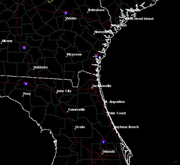 Radar Image for Severe Thunderstorms near Jacksonville, FL at 8/10/2020 8:36 PM EDT
