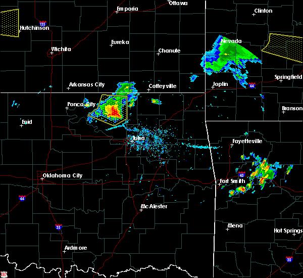 Radar Image for Severe Thunderstorms near Avant, OK at 8/10/2020 7:37 PM CDT
