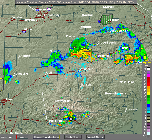 Radar Image for Severe Thunderstorms near Urbana, MO at 8/10/2020 7:39 PM CDT
