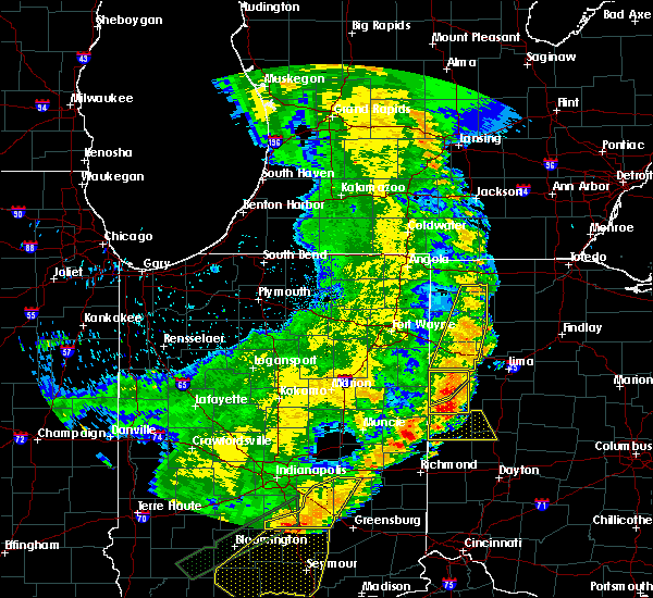 Radar Image for Severe Thunderstorms near Coldwater, OH at 8/10/2020 8:44 PM EDT