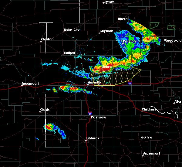 Radar Image for Severe Thunderstorms near White Deer, TX at 8/10/2020 7:48 PM CDT