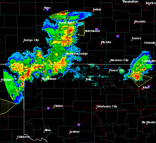 Radar Image for Severe Thunderstorms near Waldron, KS at 8/10/2020 7:50 PM CDT