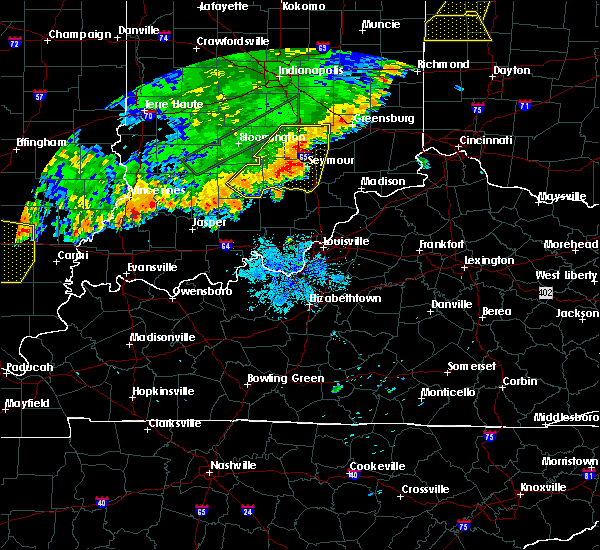 Radar Image for Severe Thunderstorms near Brownstown, IN at 8/10/2020 9:01 PM EDT