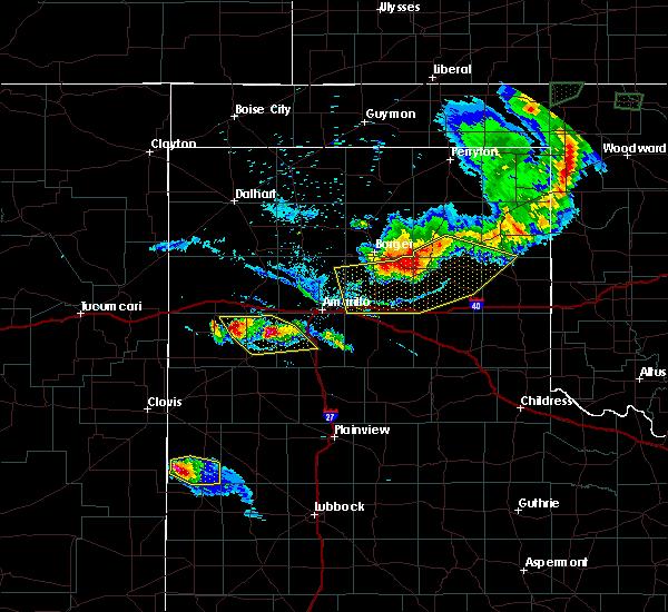 Radar Image for Severe Thunderstorms near White Deer, TX at 8/10/2020 8:08 PM CDT
