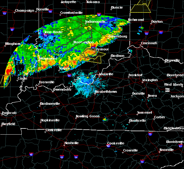 Radar Image for Severe Thunderstorms near Little York, IN at 8/10/2020 9:10 PM EDT