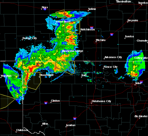 Radar Image for Severe Thunderstorms near Waldron, KS at 8/10/2020 8:15 PM CDT