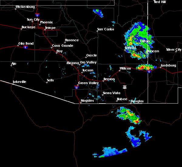 Radar Image for Severe Thunderstorms near Douglas, AZ at 7/2/2015 7:25 PM MST