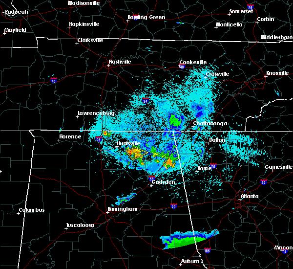 Radar Image for Severe Thunderstorms near Scottsboro, AL at 8/10/2020 8:39 PM CDT