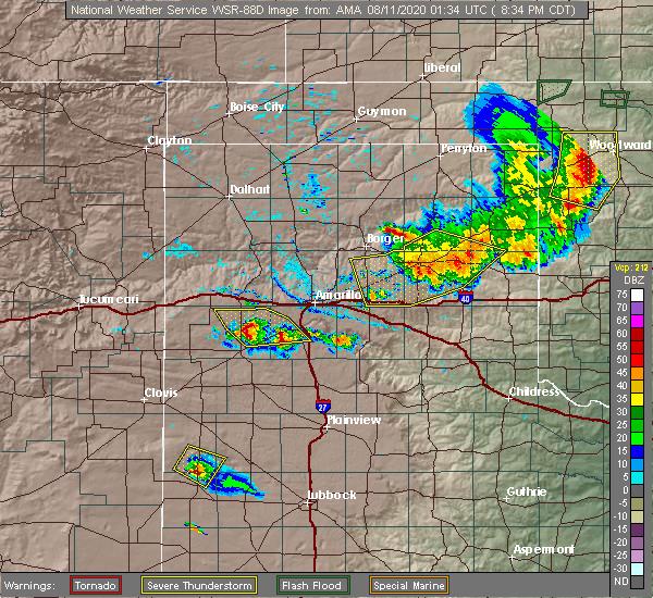 Radar Image for Severe Thunderstorms near Wheeler, TX at 8/10/2020 8:40 PM CDT