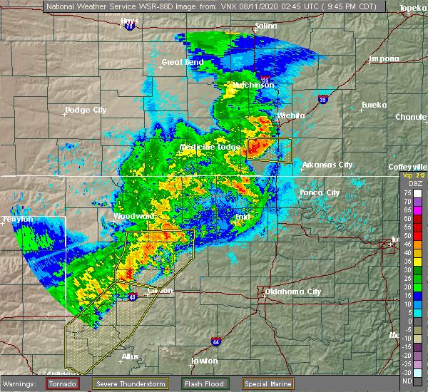 Radar Image for Severe Thunderstorms near Butler, OK at 8/10/2020 9:49 PM CDT