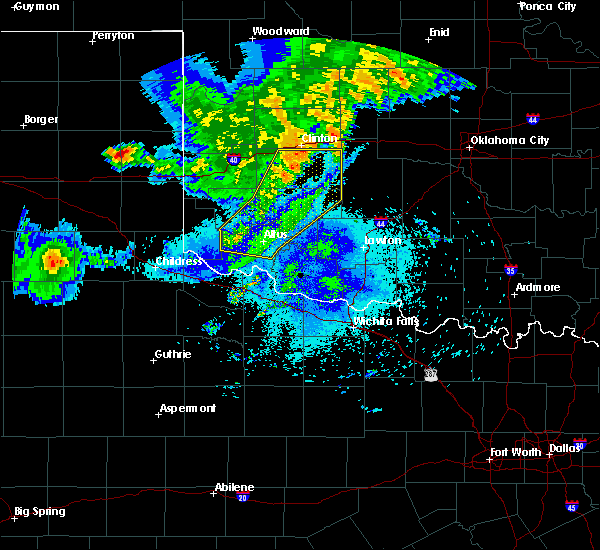 Radar Image for Severe Thunderstorms near Gotebo, OK at 8/10/2020 10:43 PM CDT