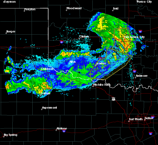 Radar Image for Severe Thunderstorms near Bray, OK at 8/11/2020 12:49 AM CDT
