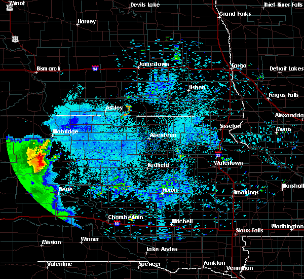 Radar Image for Severe Thunderstorms near La Plant, SD at 8/11/2020 7:53 AM CDT