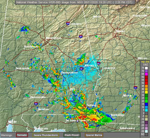 Radar Image for Severe Thunderstorms near Redland, AL at 8/11/2020 2:40 PM CDT