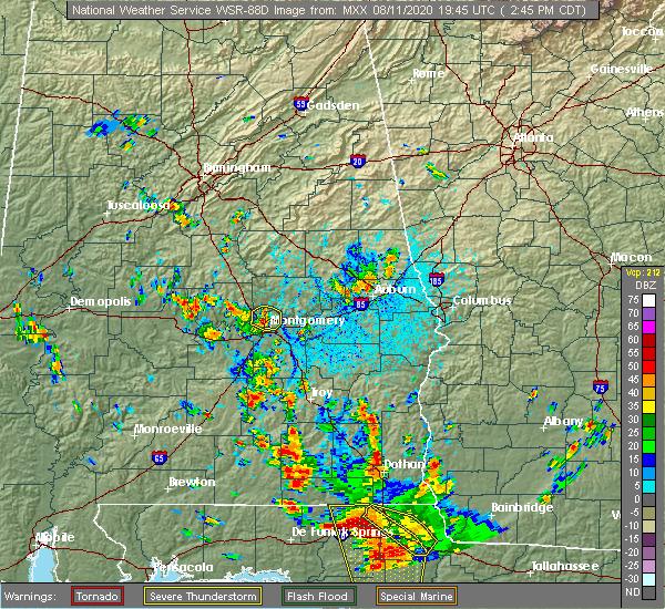 Radar Image for Severe Thunderstorms near Redland, AL at 8/11/2020 2:51 PM CDT