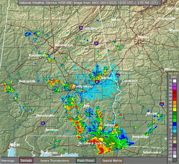 Radar Image for Severe Thunderstorms near Redland, AL at 8/11/2020 3:01 PM CDT